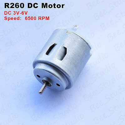 High Speed 6500 RPM Micro Small 3V-6V  DC Hobby R260 Motor Type for Car Boat Toy