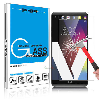 2016 9H Premium Clear Tempered Glass Screen Protector Guard Shield for LG V20