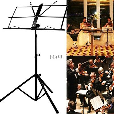 Adjustable Folding Sheet Music Stand Tripod Score Holder Mount With Carrying Bag