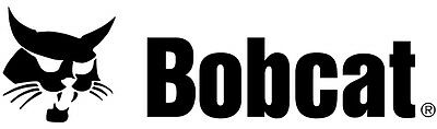 "Bobcat Sticker 9"" (2) Skid Steer Decal Sticker Aftermarket White or Black"