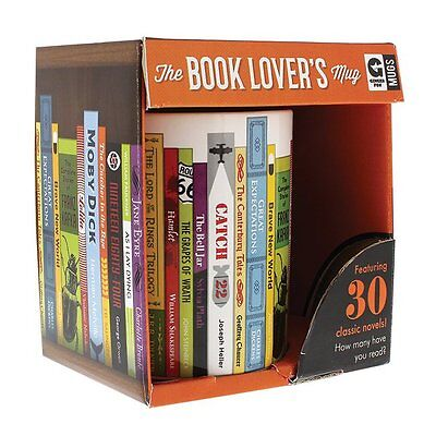 The Book Lover's Mug: Featuring 30 classic novels! How many have you read?