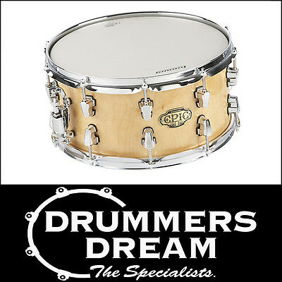 """BRAND NEW Ludwig Epic 14x7"""" 20-Ply Snare Drum """"The Brick"""" Natural Birch"""