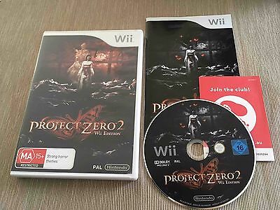 Project Zero 2 Wii Edition (Nintendo Wii, 2012) AUS PAL Complete