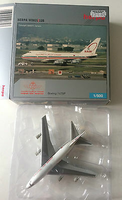 Boeing 747Sp Royal Air Maroc Airlines Airliner Aircraft Herpa Model In Box Wt