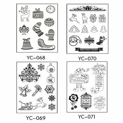 Silicone Rubber Clear Stamp Seal Scrapbooking Diary Christmas Card DIY
