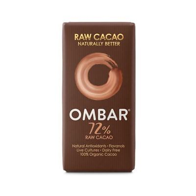 Ombar Dark 72% Raw Chocolate Bar 35g