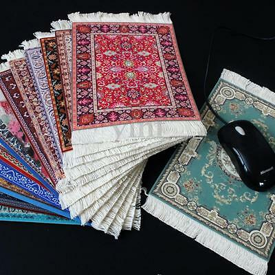 Bohemia Persian Carpet Rug Mousepad Velvet Rubber Cup Mouse Mat Pad With Tassel