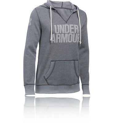 Under Armour Favorite Popover Mujer Gris Forro Running Correr Capucha Top Ropa