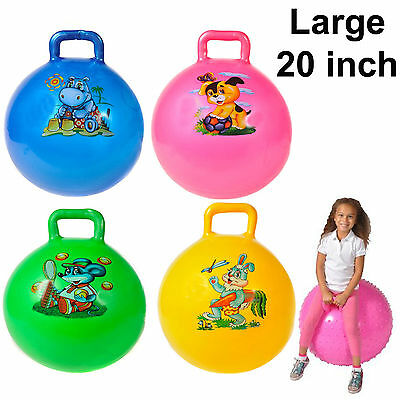 """20"""" Inch Large Jump Bounce Space Hopper Retro Yoga Ball Adult/kid Outdoor Toy"""