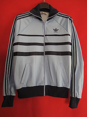 Veste Vintage First ciel marine OM ADIDAS Made in France Ventex 80'S - 174 / M