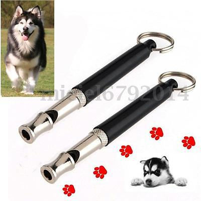 Puppy Dog Training Whistle Adjustable Ultrasonic Sound Silent Obedience Keychain