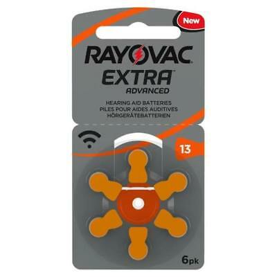 Rayovac Hearing Aid Batteries Size 13 *EXPIRES 2022*. Orange Tab