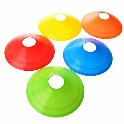 1/5PC Sport Training Discs Markers Cones Saucer Football Soccer Fitness Exercise