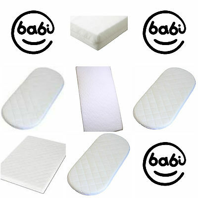 Mattress for Moses, Cot, Cotbed, Cradle & Crib. Travel Cot Mattress. Made in UK