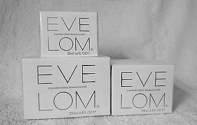 EVE LOM CLEANSER Sizes available 100ml, 50ml  New, Boxed & Sealed+Muslin Cloth