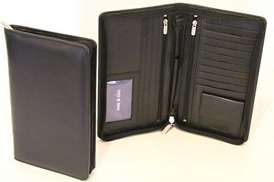 RFID Lining With Leather Passport Wallet. Col: Black. Style No: 11010