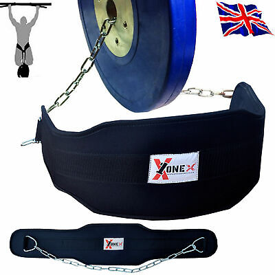 Onex Dip Belt Weight Lifting Body Building GYM Back Dip Training Chain ZKR