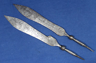 2 Chinese antique spear head - Southern China Indo China 19th