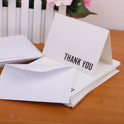 50pcs Christmas Bridal Shower Thank You Cards with Envelopes Greeting Cards
