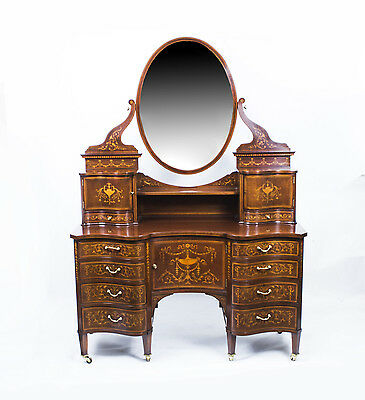 Antique Victorian dressing table Edwards & Roberts c.1880