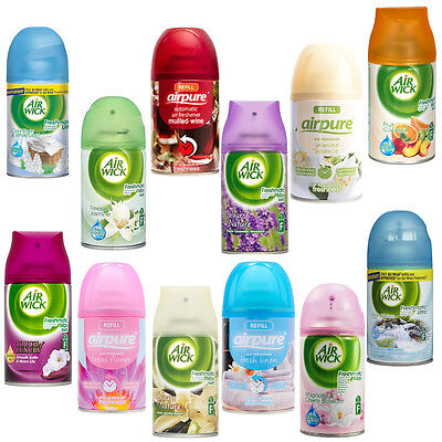 6 x Fresh Air, Airwick & Airpure Freshmatic Max Auto Spray Refills 250ml
