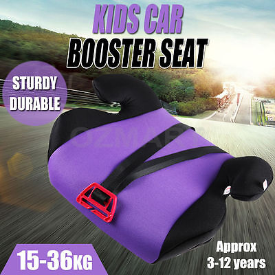 Car Booster Seat  Safe Sturdy Baby Child Kid Child 3 To 12 Years Purple Safey AU