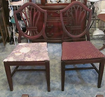 Pair of Shield Back Dining Room Chairs