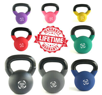 Neoprene Kettlebell Cast Iron Weight Gym Fitness Training Kettlebells Strength