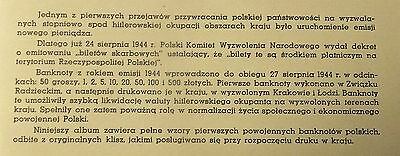 WW2 Poland Currency Set Reprints From Originals  Red Binder 8 Notes