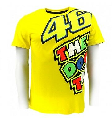 Valentino Rossi Mens Official VR46 MotoGP T-Shirt Yellow The Doctor L or XL