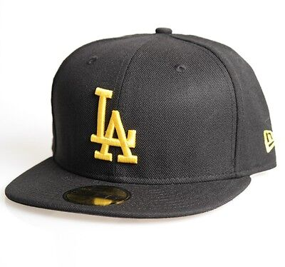 LA Dodgers 59FIFTY  Mens MLB Seasonal Baseball Cap By New Era Black Size 7