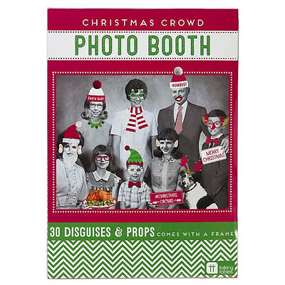 Talking Tables Christmas Crowd DIY Photo Booth Kit - 30 Xmas Party Photo Props