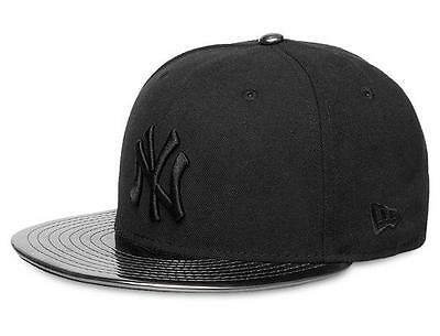 New York Yankees 59FIFTY Meddled Black/Black Mens MLB Cap By New Era Size 7 1/2
