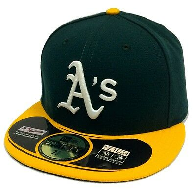 Oakland Athletics 59FIFTY Mens MLB Baseball Cap By New Era Size 7 3/8
