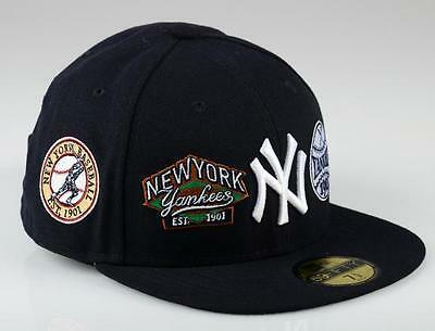 New York Yankees 59FIFTY Patch Up MLB Baseball Cap By New Era Size 7 1/2