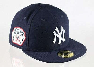 New York Yankees 59FIFTY Team Patch Mens MLB Baseball Cap By New Era Size 7 1/8