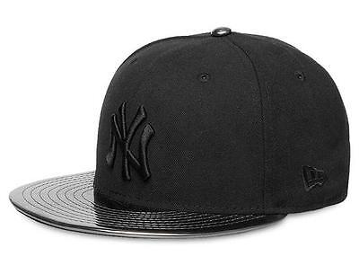 New York Yankees 59FIFTY Meddled Black/Black Mens MLB Cap By New Era Size 7 1/8