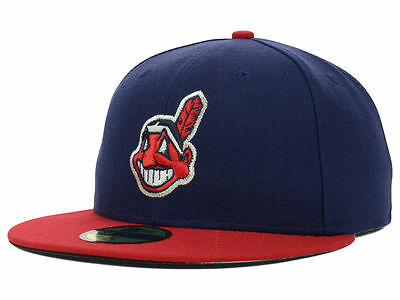 Cleveland Indians 59FIFTY Mens MLB Baseball Cap By New Era Size 7 1/8