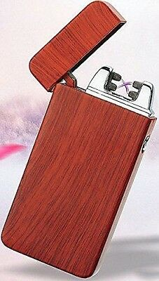 Rechargeable Electric USB LIGHTER Double ARC PULSE Flameless Gift Box Included