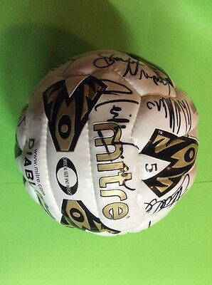 Signed Sheffield United Football - The Blades - Mitre - Many Autographs