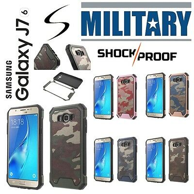 Etui Coque housse Army Camouflage Hybrid Case Cover Samsung Galaxy J7 (2016)