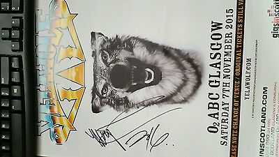 Yelawolf Signed Concert Poster 17x11