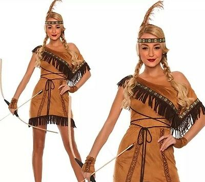 Womens Indian Pocahontas Fancy Dress Costume,Hen Party's Etc