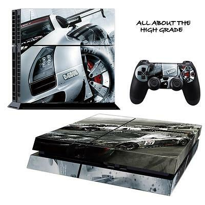 *uk Seller* Racing Cars Ps4 Playstation Sticker Skin Wrap & 2 Controllers