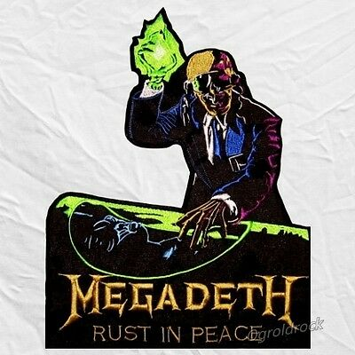 Megadeth Rust in Peace Logo Embroidered Big Patch Dave Mustaine for Back DJ