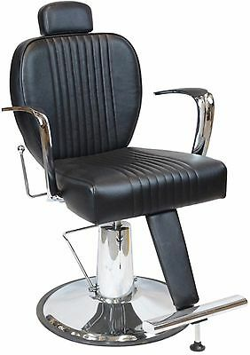 Luxury Hydraulic Adjustable Height and Reclining Barber Chair w/ Heavy Duty Pump