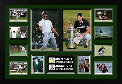 Adam Scott & Jason Day Signed Limited Edition Framed Memorabilia