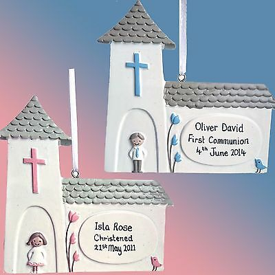 Personalised Church Christening Confirmation Communion Gift - Girl Boy Pink Blue