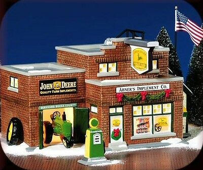 Department 56 Abner's Implements Co. Set of 2 Snow Village 55052**FREE SHIPPING!
