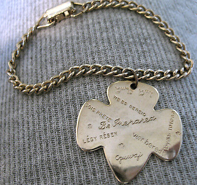 Girl Scout CHARM BRACELET 1950s Be Prepared in 15 Languages EUC Collectors GIFT